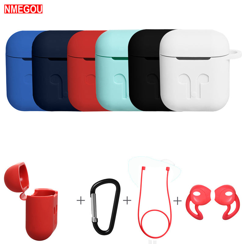 4 In 1 Earphone Silicone Case Anti-lost Wire Eartips for Apple Airpods Air Pods Bluetooth Wireless Headphone Accessories - Store Zone-Online Shopping Store Melbourne Australia