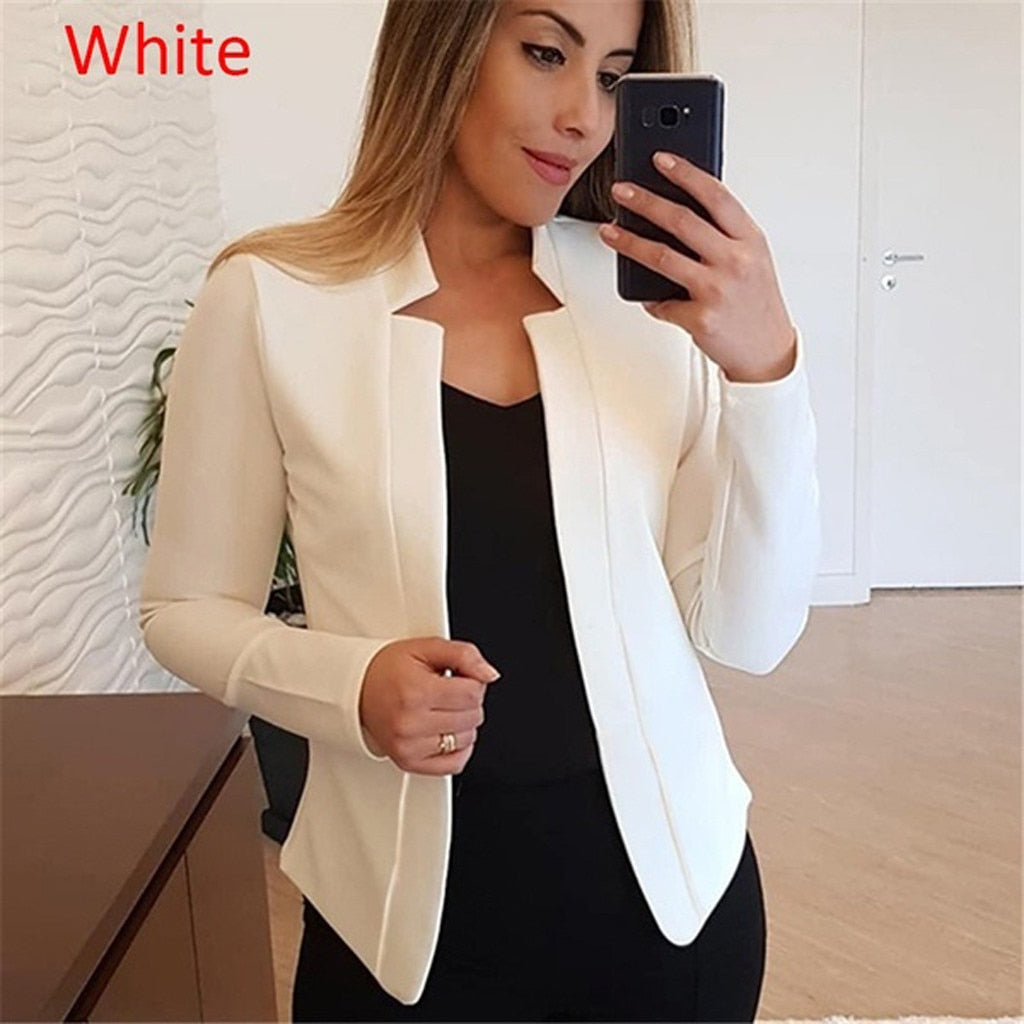 Ladies Cardigan Solid Long Sleeve fashion coats - Store Zone-Online Shopping Store Melbourne Australia