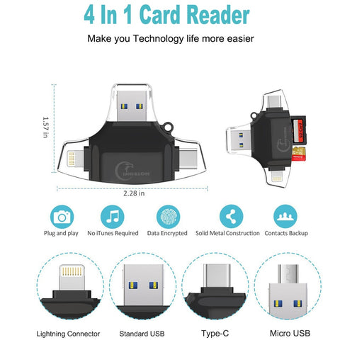 4in1 SD Reader - Store Zone-Online Shopping Store Melbourne Australia