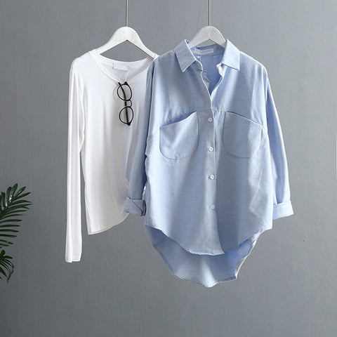 Women Korean Long Sleeve Casual Shirts - Store Zone-Online Shopping Store Melbourne Australia