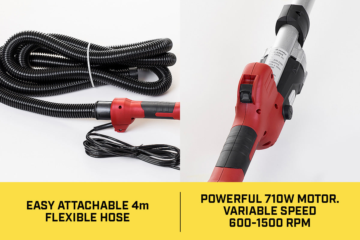Electric Plaster Wall Drywall Sander with LED - 700W