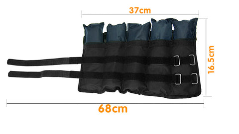 Powertrain 2x 2.5kg Adjustable Ankle Weights