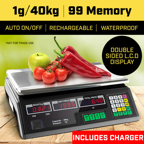 40kg Digital Kitchen Food Scale Black