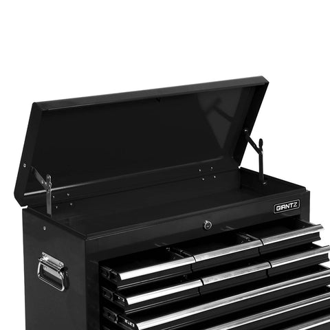 Giantz 9 Drawer Mechanic Tool Box Storage - Black