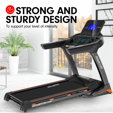 PowerTrain Treadmill V100 Cardio Running Exercise Fitness Home Gym