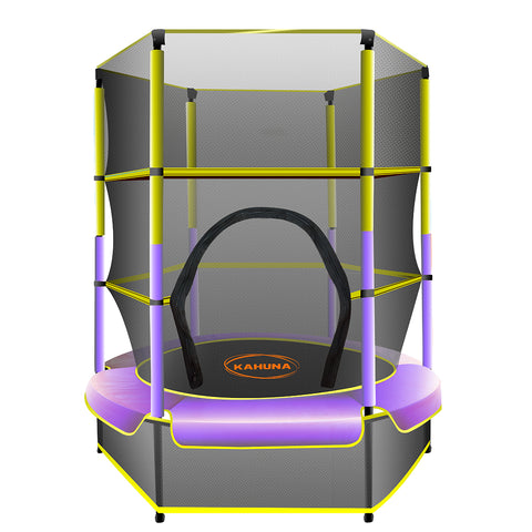 Kahuna Mini 4.5 ft Trampoline Yellow Purple