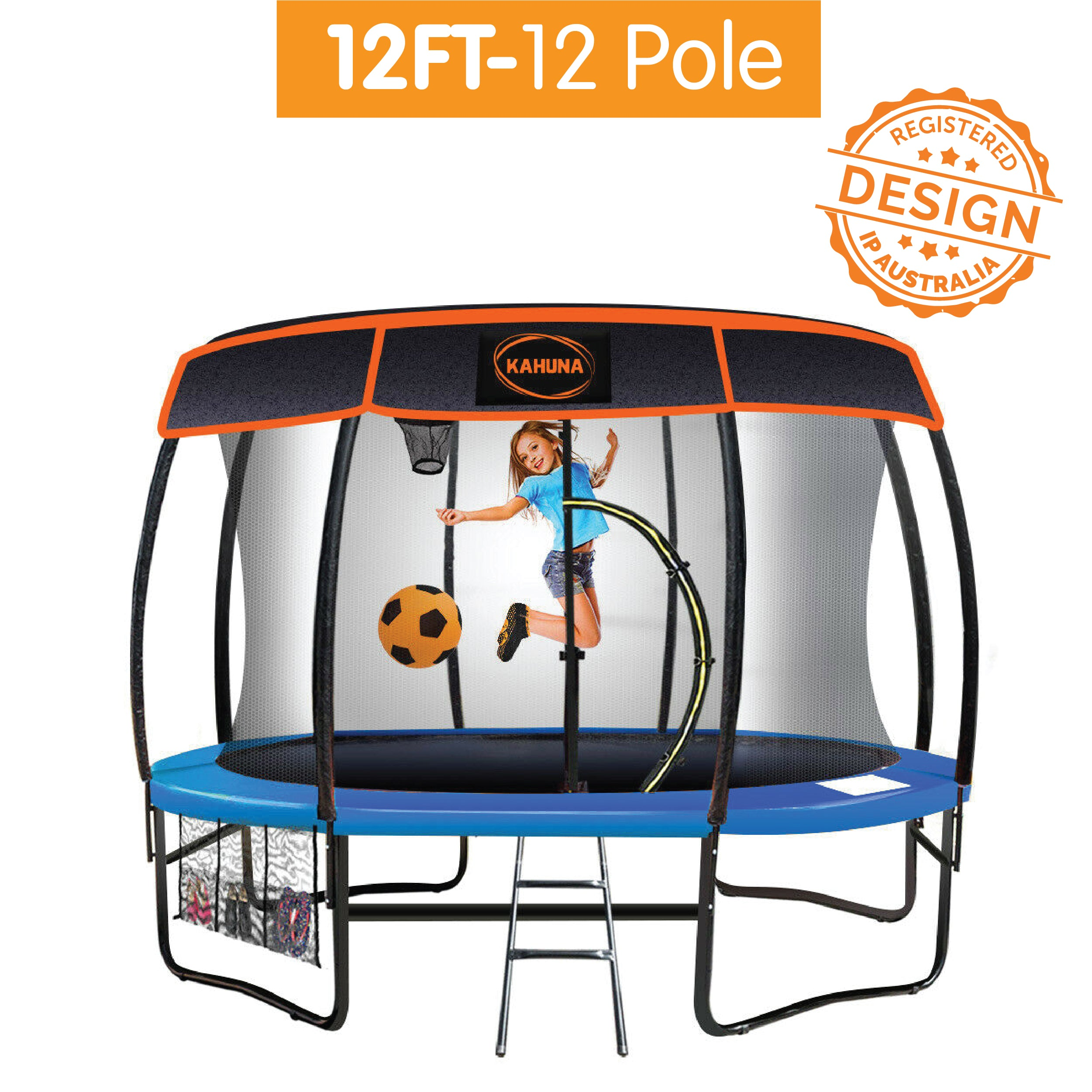 12ft-12 Pole Kahuna Trampoline Roof Shade Cover