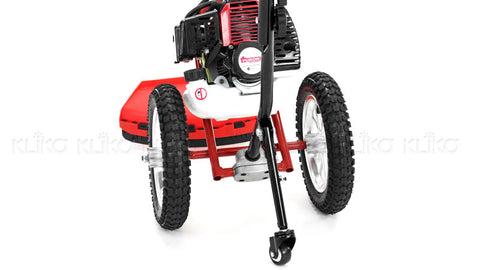 Yukon 52cc Wheeled Petrol Garden Line Trimmer Brush Cutter