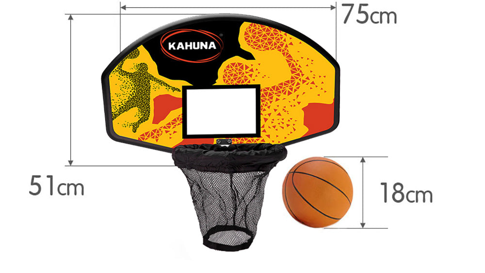 Trampoline Basketball Backboard Hoop Set