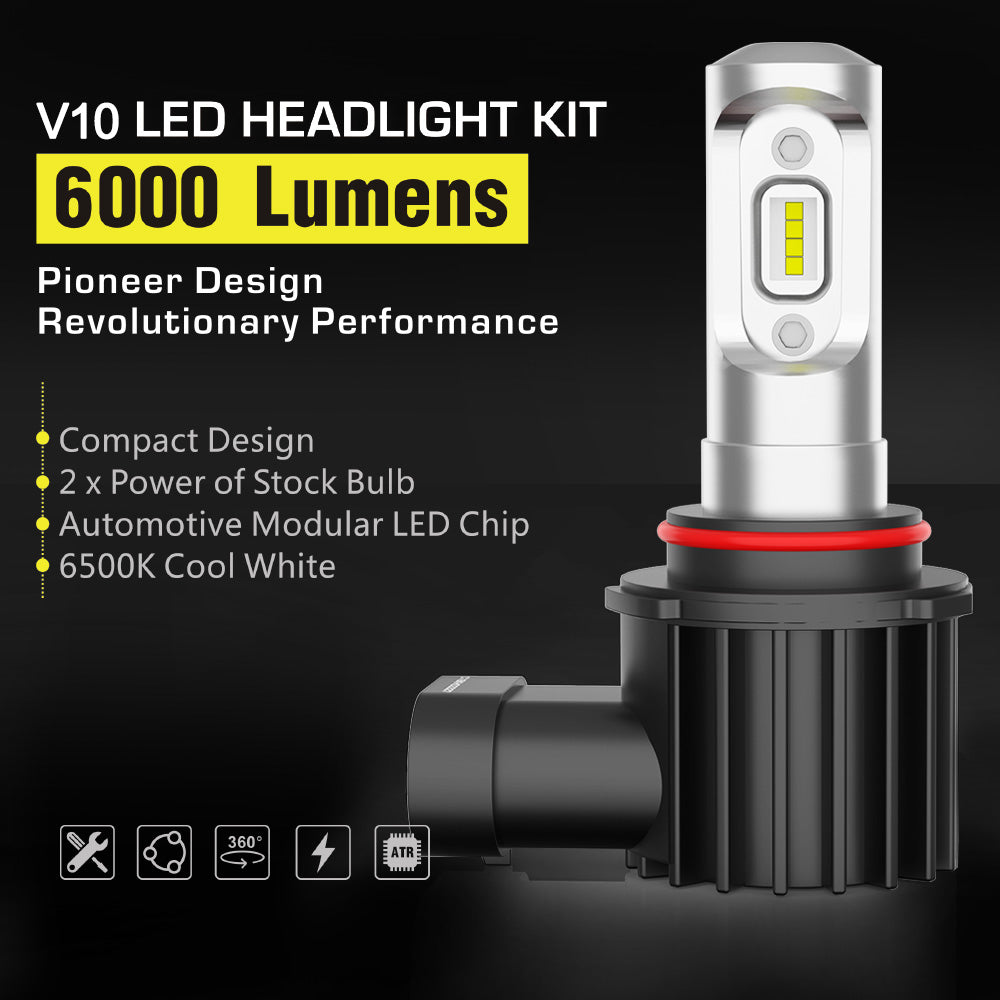 Pair 9005 HB3 LED Headlight Driving Lamp Globe bulb upgrade 12000LM