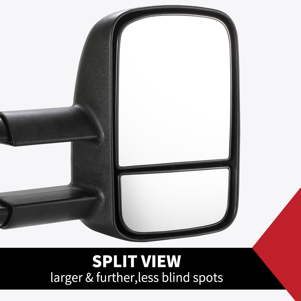 Pair Extendable Towing Mirrors Fit Toyota HILUX 2005-2015