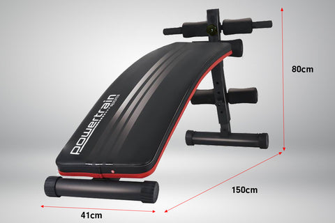 Inclined Sit up bench weight adjustable - Powertrain