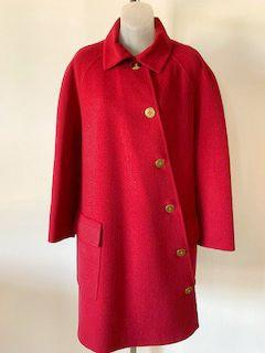 Bill Blass Size Medium Ruby Coat - Wear it Well Boutique