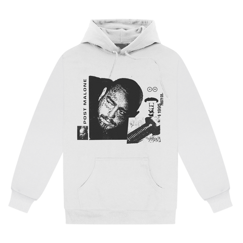 Posty Co Screw Hoodie - White