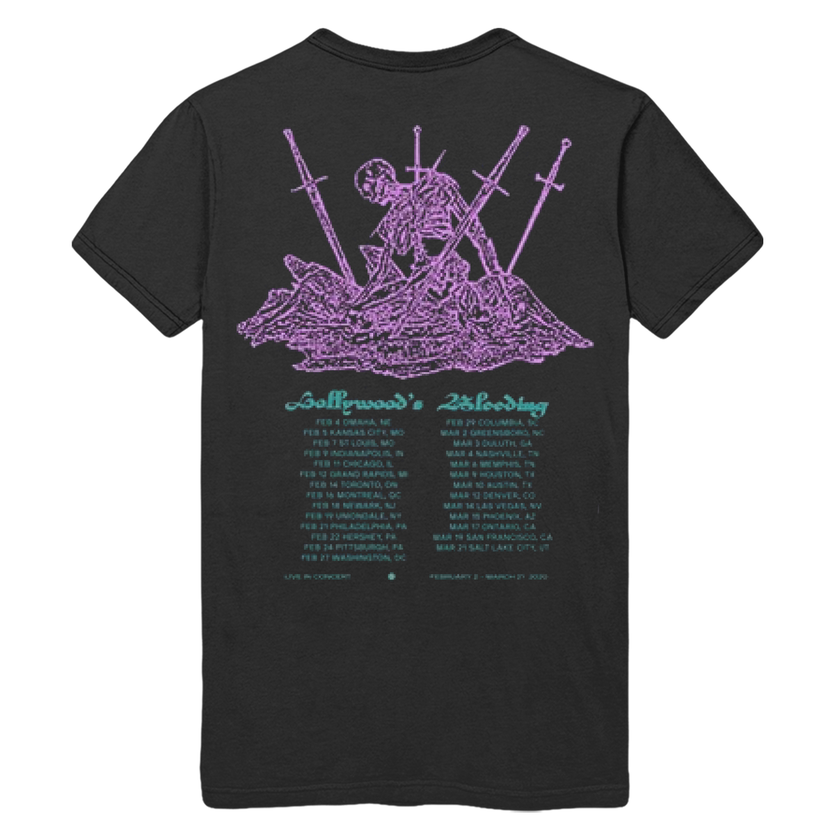 Hollywood's Bleeding Black Tour Tee