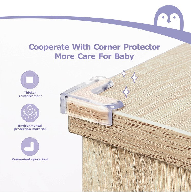 Momcozy Baby Proofing Edge Protectors Corner Guards, Safety Foam Fireplace Table Bumper
