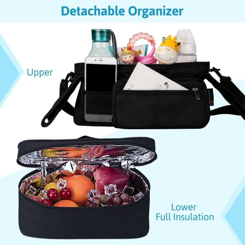 Momcozy ® Detachable Insulated Stroller Organizer