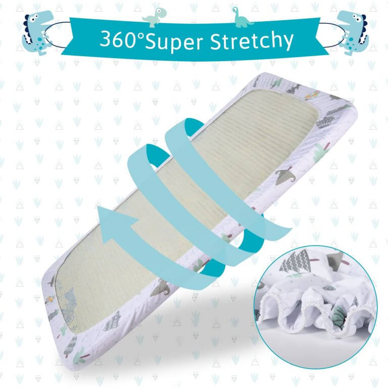 Momcozy ® Dinosaur Tree 3 Pack Bassinet Sheets