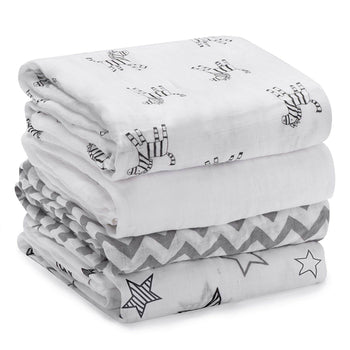 Momcozy ® 4 Pack Muslin Baby Swaddle Blankets