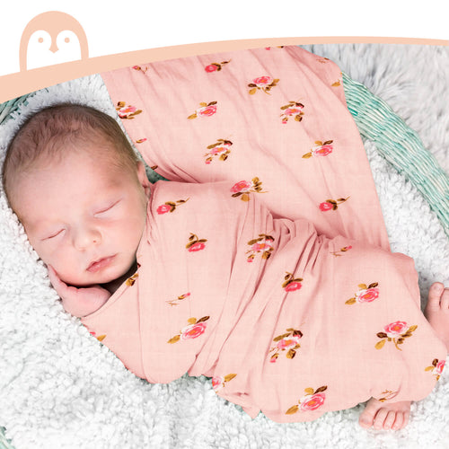 Momcozy 4 Pack Muslin Wrap Swaddle Blankets