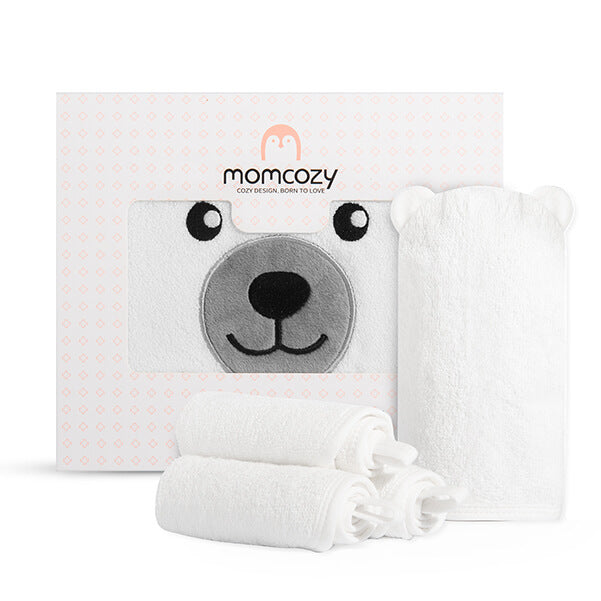Momcozy Bamboo Baby Bath Towels Set