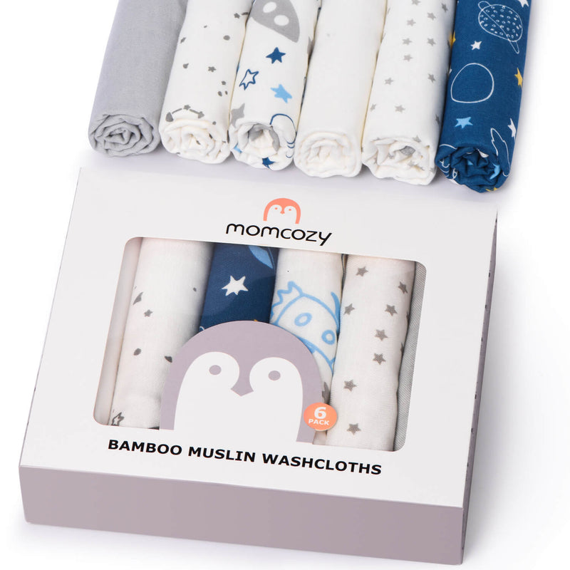 Baby Washcloths Bamboo Muslin Wash Cloths
