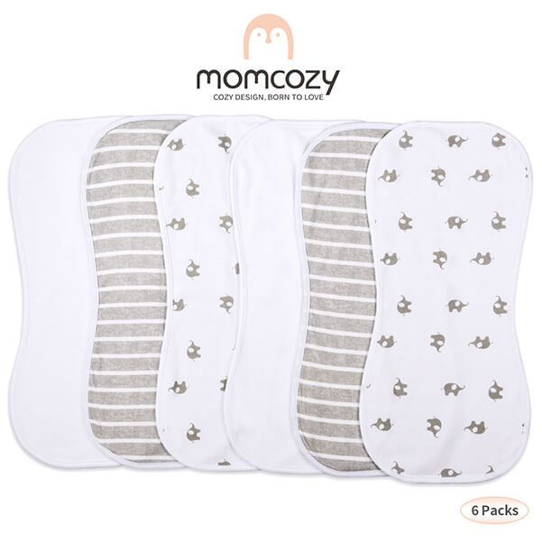MOMCOZY 6 Pack Baby Burp Cloths