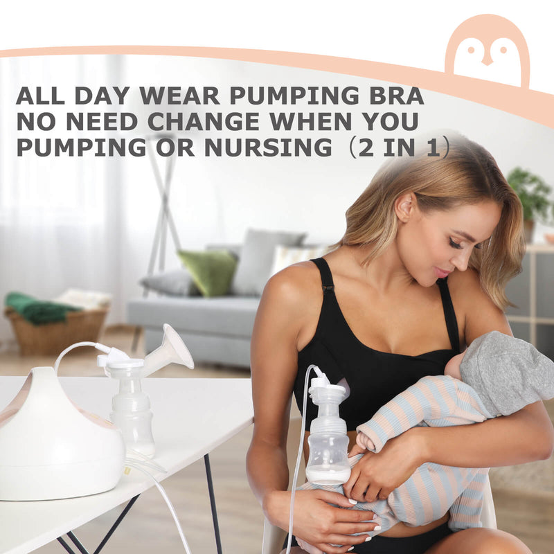Hands Free Pumping And Nursing Bra By Momcozy
