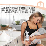 Stretch Cotton Breast Pump Bras - 2 Packs