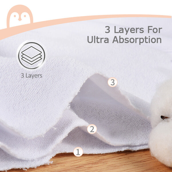 MOMCOZY 4 Pack Baby Burp Cloths