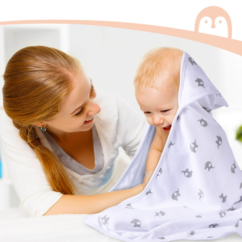 Momcozy 8-Piece Baby Hooded Towel & Washcloths Set