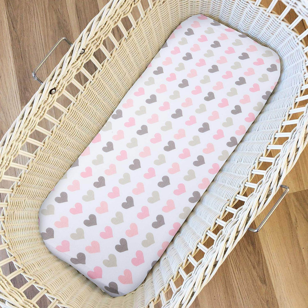 Momcozy ® 2 Pack Pink Bassinet Sheets