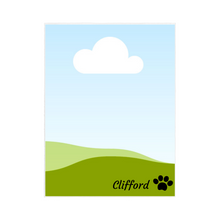 Load image into Gallery viewer, Single Image PET Blanket with PERSONALIZED NAME and Paw