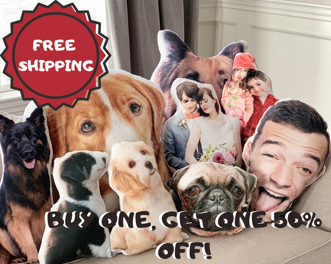 Photo Personalized Cutout Throw Pillow | Buy One, Get One 50% OFF! *LIMITED TIME DEAL