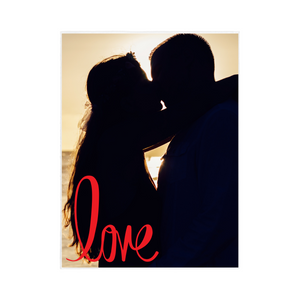 "PHOTO Personalized Blanket - ""Love"""