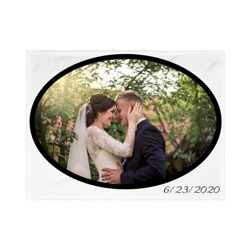 PHOTO Personalized Blanket - Wedding Style
