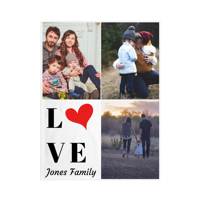 3 PHOTO Personalized Blanket -