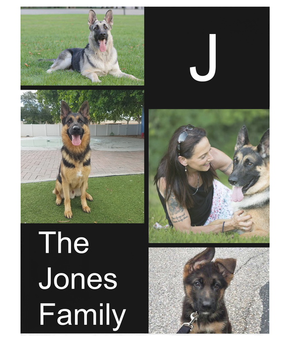 Family and Pet Blanket - Your beloved pet and your loves ones on a Plush Fleece Blanket