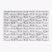 Load image into Gallery viewer, Bows and Arrows 👶 Personalized Baby Name Blanket