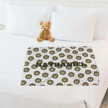 Load image into Gallery viewer, Sleeping Lions 🦁 Personalized Baby Name Blanket