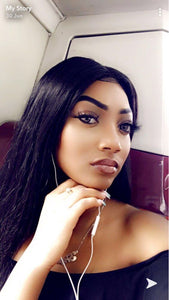 Invisible Transparent Lace Front Human Hair Wig | Brazilian Straight Glueless Lace Frontal Wig