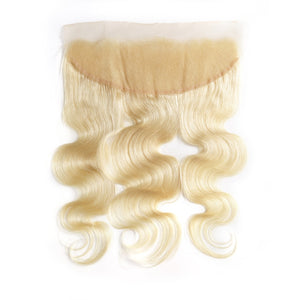 "8- 28"" 613 Blonde Body Wave Bundles With Lace Frontal"
