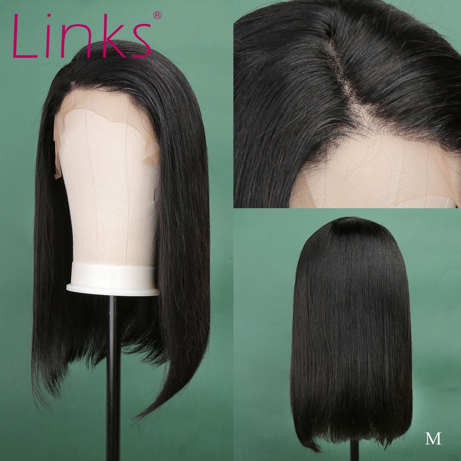 13X4 Lace Front Human Hair Wig | Brazilian Straight Short Bob