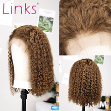 Load image into Gallery viewer, 27 Ombre Color Short Mongolian Curly 13X6 Lace Front Human Hair Wig | With Baby Hair & Pre Plucked