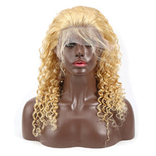 Load image into Gallery viewer, 613 Honey Blonde Malaysian Curly Lace Front Wig | Deep Wave | Pre Plucked | Free Shipping