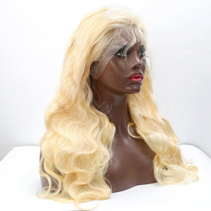 Blonde Lace Front Wig | Body Wave Brazilian Human Hair 10- 26 Inches | Free Shipping