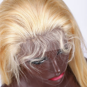Blonde 13*4 Lace Front Wig | Natural Straight Brazilian Human Hair