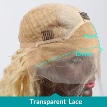 Load image into Gallery viewer, Blonde 13*4 Lace Front Wig | Natural Straight Brazilian Human Hair
