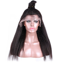 Load image into Gallery viewer, Brazilian Kinky Straight Lace Front Human Hair Wig | Pre-plucked with Baby Hair | Lace Front Wig For Black Women