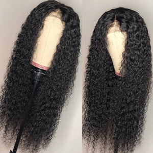 Brazilian Closure Curly Wig | Pre Plucked With Baby Hair | 4x4 Closure